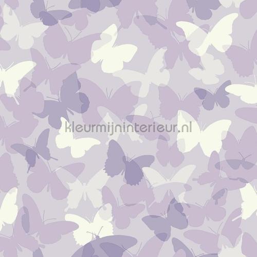 Vlindervallei paars behang 351738 Interieurvoorbeelden behang Eijffinger