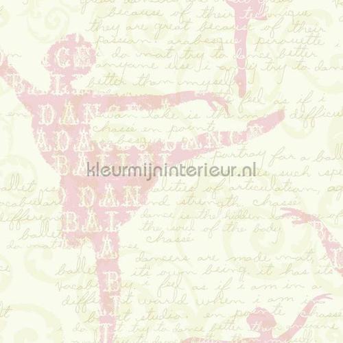 Balletdanderessen roze behang 351746 Interieurvoorbeelden behang Eijffinger