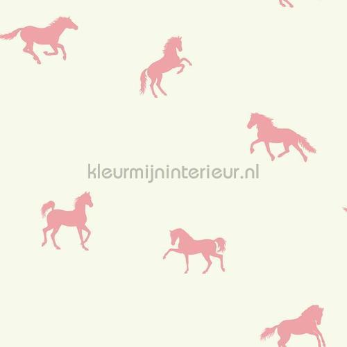 In galop roze behang 351751 Interieurvoorbeelden behang Eijffinger