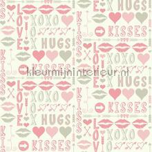 Hugs and kisses roze papier peint Eijffinger Hits 4 Kids 351752