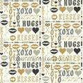 Hugs and kisses goud