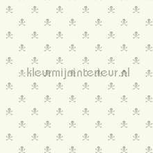 Skeletjes wit zilvergrijs behang Eijffinger Hits 4 Kids 351758