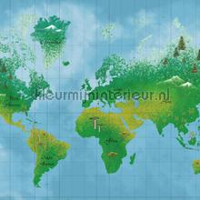 World Map fotowand papier murales Eijffinger structures