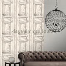 Paneel deuren grijsbeige tapet Dutch Wallcoverings Vintage Gamle