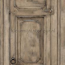 Paneel deuren bruin behang Dutch Wallcoverings Landelijk Cottage