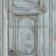 Paneel deuren grijsblauw tapet Dutch Wallcoverings Vintage Gamle