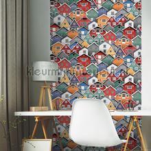 Kleurrijke houten huizen carta da parati Dutch Wallcoverings Home L30710