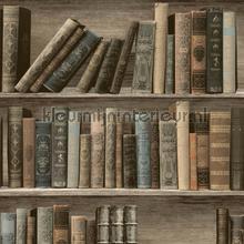 Antieke boeken in een kast tapeten Dutch Wallcoverings Home L32007