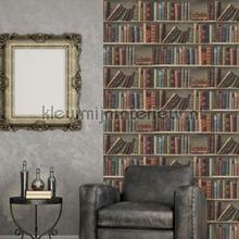 Antieke boeken in een kast tapeten Dutch Wallcoverings Home L32008