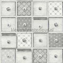 Patchwork ladekast papel pintado Dutch Wallcoverings Wallpaper creations