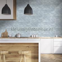 Lichtblauwe tegels tapeten Dutch Wallcoverings Home L33201