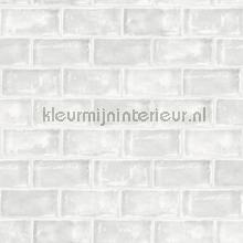 Lichtgrijze tegels behang Dutch Wallcoverings Keuken