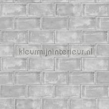 Grijze tegels behang Dutch Wallcoverings Keuken