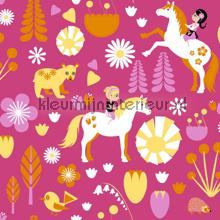 Kevatlaulu - pink behang Vallila Baby Peuter