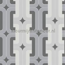 Retro gevlochten blok patroon behang Rasch Hotspot 804805