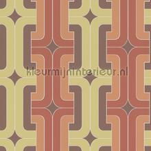 Retro gevlochten blok patroon behang 804812 Interieurvoorbeelden behang Rasch