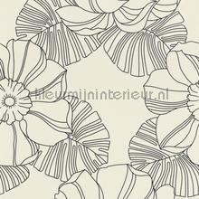 Grote retro bloemen behang 804904 Interieurvoorbeelden behang Rasch