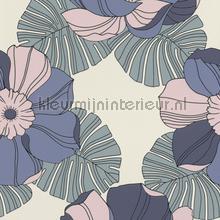 Grote retro bloemen behang 804929 Interieurvoorbeelden behang Rasch