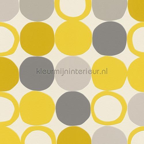 Gele hotspots behang 805116 Interieurvoorbeelden behang Rasch