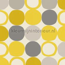 Gele hotspots wallcovering Rasch wallpaper by meter