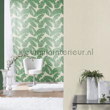 Gebladerte groen behang Rasch retro