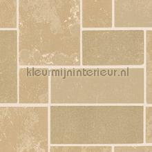 Beige natuurstenen strak gelegd wallcovering AS Creation Vintage- Old wallpaper