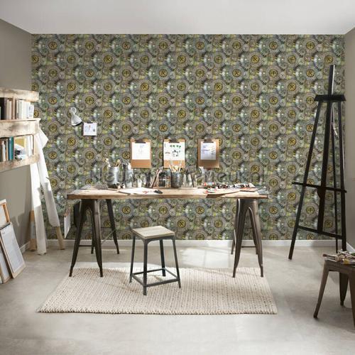 Tandwielen papel pintado 35859-2 interiors AS Creation