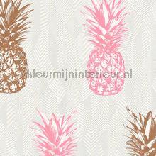 Ananas behang rose kopergoud papel de parede AS Creation Wallpaper creations