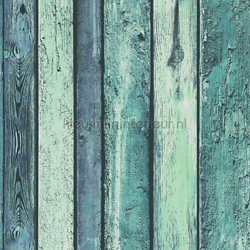 Zeegroen sloophout planken carta da parati 36282-1 interiors AS Creation