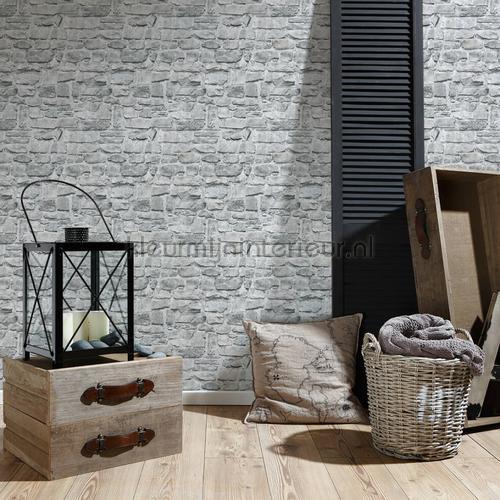 Grove gemetselde stenen muur carta da parati 36370-1 interiors AS Creation