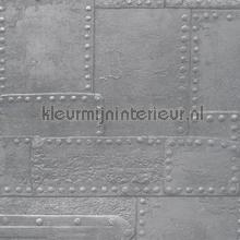 Metaal platen collage papel de parede AS Creation urbana