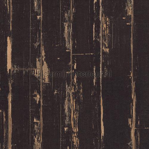 Wonderlijk Oude zwarte houten planken 36856-2 behang Il Decoro AS Creation NI-57