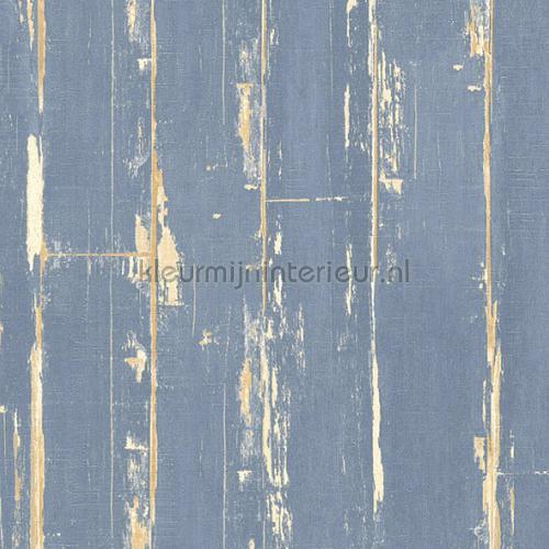 Oude blauwe houten planken tapet 36856-3 Il Decoro AS Creation
