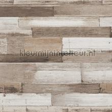 Dwarse houtplankjes wallcovering AS Creation wood