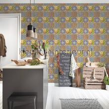 Oosters tegelpatroon wallcovering AS Creation Vintage- Old wallpaper
