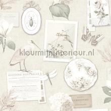 Romantische verzameling met dieren tapet Dutch Wallcoverings Vintage Gamle
