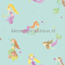 Mermaid World - Teal behang Arthouse meisjes