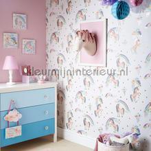 Rainbow Unicorn - White tapet Arthouse Imagine Fun 2 696109