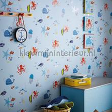 Underwater Fun Blue behang Arthouse Baby Peuter
