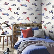Zoom Away - Blue Multi behang 696203 auto - transport Arthouse