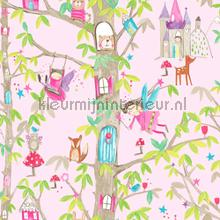 Woodland fairies - pink wallcovering Arthouse all-images
