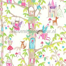 Woodland fairies - white wallcovering Arthouse all-images