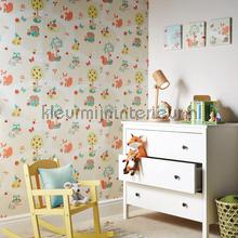 Forest friends - mint behang Arthouse Baby Peuter