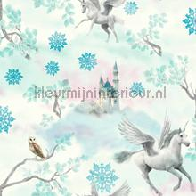 Fairytale - teal wallcovering Arthouse all-images
