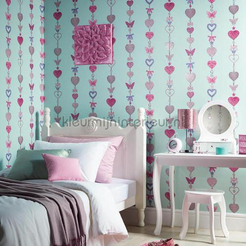 Tiffany stripe - white behang 667901 hartjes Arthouse