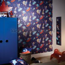 Starship - blue behang Arthouse jongens