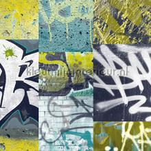 Grafitti - blue wallcovering Arthouse all-images