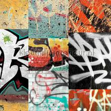 Grafitti - red wallcovering Arthouse all-images