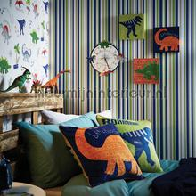 Earn your stripes - blue and green behang Arthouse Baby Peuter
