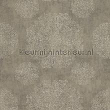 Indiaas verfijnd bloembolpatroon papier peint BN Wallcoverings Indian Summer 218554
